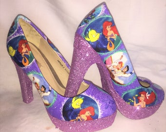 disney little mermaid / ariel shoes / heels * * * uk sizes 3-8 * * *