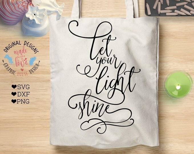 Bible Verse svg, scripture svg, Let Your Light Shine svg, Let Your Light Shine, Cut File, Proverb Matthew 5:16, Silhouette or Cricut file
