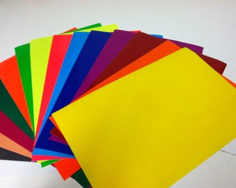 Transparent Sheets With Adhesive, 3 x 4 inch Sample Pack Swatch Book