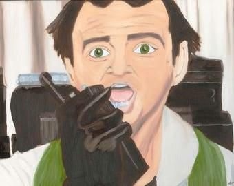 Bill Murray Dr Peter Venkman - Horror Art - Geek Gift - Nerd Gift - Horror Gift - Movie Art - Oil Painting - Print