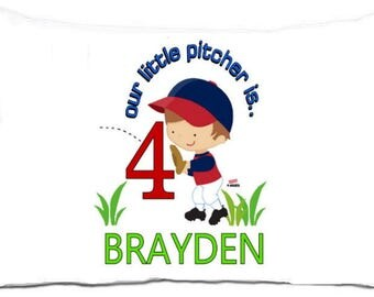 Our Little Pitcher birthday standard pillowcase