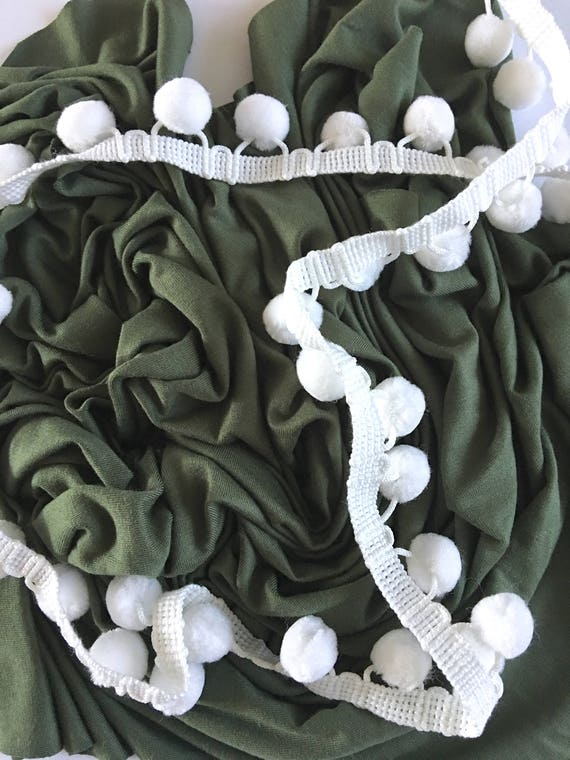 Cargo Green Pom Swaddle Blanket