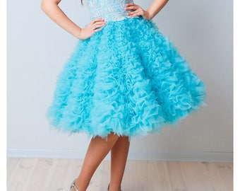 Layered skirt Tiered tulle skirt Girls ruffle skirt Bridesmaid skirt tulle