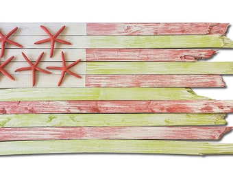 Handcrafted Coastal Flag - Margarita