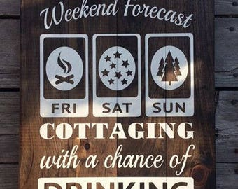 Weekend Forecast: Cottaging/Camping With A Chance of Drinking