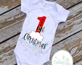 Babys First Christmas, First Christmas, First Christmas shirt, xmas shirt, christmas shirt, baby shirt, baby bodysuit, santa shirt, 1st xmas