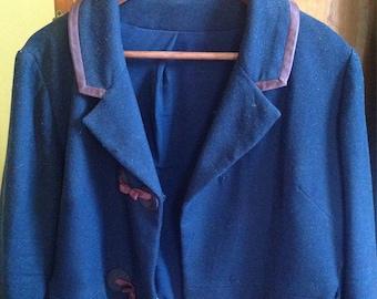 Plus Size Vintage Wool Jacket