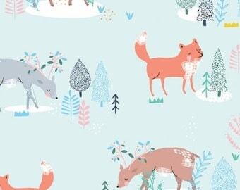 One Yard Cut - Woodland Friends - Pine Grove for Dear Stella Designs -  Quilters Cotton - Fabric by the Yard