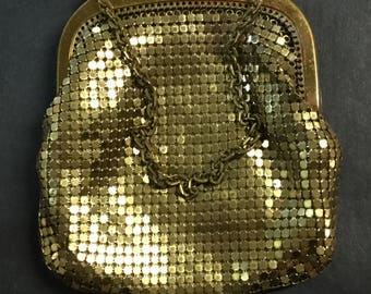 Whiting And Davis goldstone mesh purse