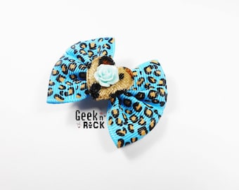 Rock - clip hair Barrette leopard rock rockabilly pin up retro vintage