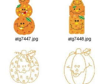 Pumpkin-Party ( 15 Machine Embroidery Designs from ATW ) XYZ17H