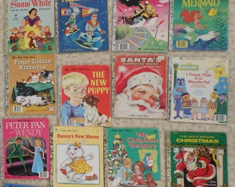 Vintage Childrens Golden Book Lot of 20 Story Book 1940-80s