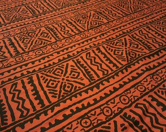 African Mudcloth inspired fabric per yard