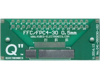 "FFPFPC30 (4 ÷ 30 PIN) 0.50mm(0.02"") to IDC2x15 connector."