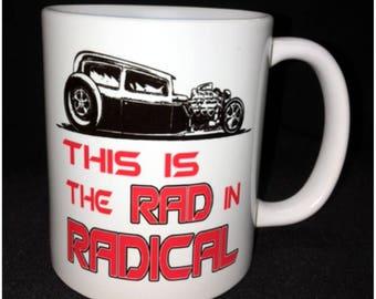 Hot Rod, Custom Car Coffee Mug, Model A, Street Rod, Roadster, Radical, Wedge Top, Wedge Hemi, Blown Hemi