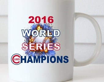 CUBS Mug, Chicago CUBS, CUBS World Series Coffee Mug, World Series Champions, Fly the W