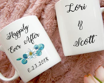 Happily Ever After Coffee Mug, Engagement Gift, Bride to Be Gift, Wedding Planning Mug