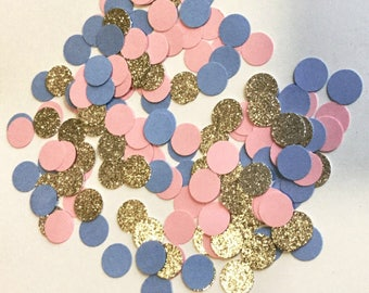 Gender Reveal Party Confetti - Pink and Blue Confetti - Baby Shower Confetti - He or She Boy or Girl - Gender Reveal Decorations