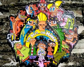 The 90's... OH MAMA! Pin (Cartoon Network/Bassnectar) (90CN04) (partial glitter)