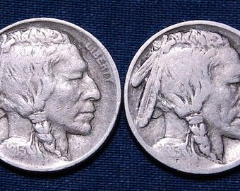 1913 and 1913-D Buffalo Nickels