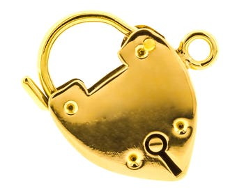 Heart Padlock Charm in 15ct Yellow Gold (5115002)