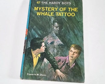 The Hardy Boys #47, Mystery of the Whale Tattoo by Franklin W. Dixon  Hardcover   Mystery/Adventure