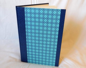 Navy and turquoise ethnic travel book