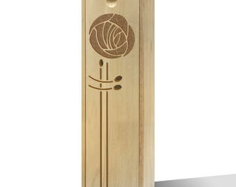 Twisted Envy Single Rose Wooden Wine Box