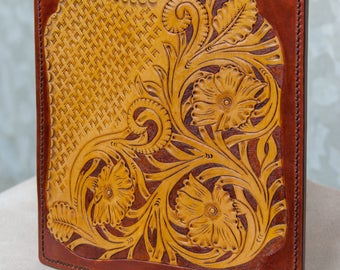 Sheridan style leather long wallet