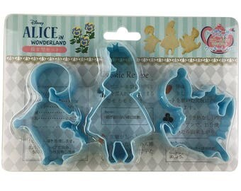 Alice in Wonderland Cookie Cutter Set of 3 PCs