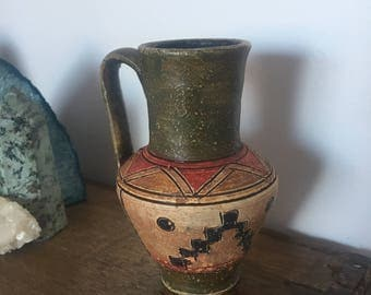 Old ceramic pot Aztec style
