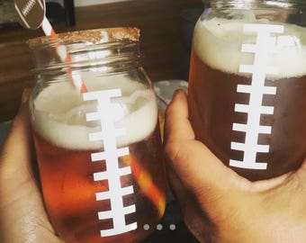 Football mason jars (22) listing for Brianne