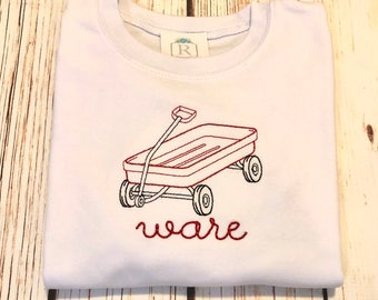 Little red wagon tee
