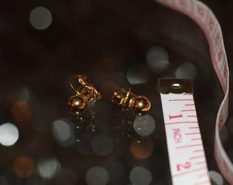 Trafari Gold Earrings with Tafari Inscribed
