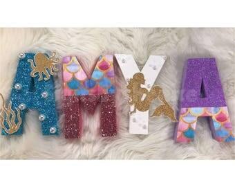 Mermaid themed letter set
