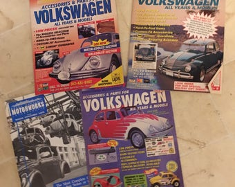 Old Volkswagen parts catalog and magazines   1992-1996