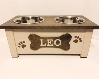 Dog Bowl,Rustic Pet Feeder, Personalized Dog Bowl, Raised Dog Feeder, Elevated Dog Feeder, Dog Feeding Station, Dog Dish , Pet Supplies