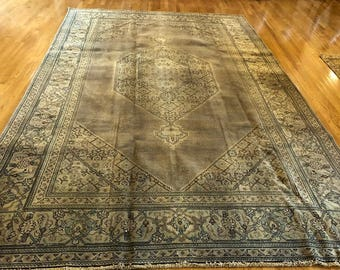 persian rug antique 8.0 x 11.10 very old persian tabriz rug washed clean