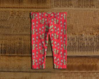 Red Lilies Kids Leggings