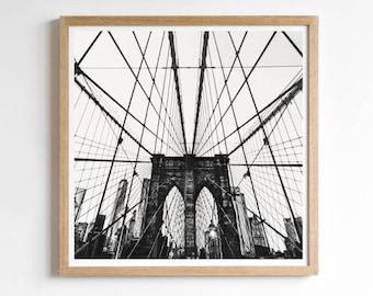 New York Wall Print - Brooklyn Bridge - Brooklyn Print Decor - New York Print - New Yorker - New York City Poster - New York Cityscape