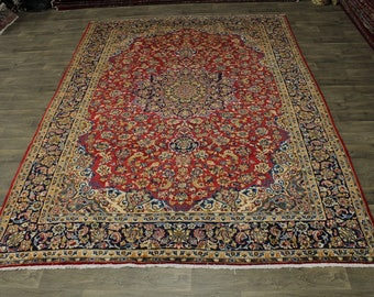 Traditional S Antique Handmade Najafabad Persian Rug Oriental Area Carpet 9X13