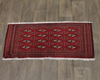 Lovely Handmade Tribal Small Turkoman Persian Rug Oriental Area Carpet 1ʹ9X3ʹ5
