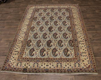Gorgeous Handmade S Antique Kashan Boteh Persian Rug Oriental Area Carpet 7X11