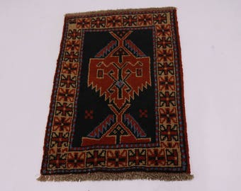 Gorgeous Small Entrance 100% Wool Ghoochan Persian Area Rug Oriental Carpet 2X3