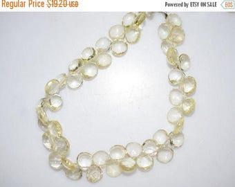 50% OFF Natural Lemon Quartz Heart Shape Faceted Beads -Lemon Quartz Heart Shape Briolette , 7x7-8x8 mm ,  BL672