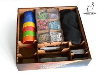 Organizer for Roll for the Galaxy™ Board Game, Roll for the Galaxy™ Insert, Roll for the Galaxy™ Organizer, Game Insert, Wooden Organizer