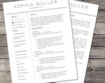 resume template professional resume modern resume cv template creative resumecover - Cover Letter And Resume Template