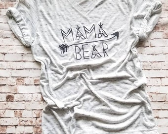 New Mom Mothers Gift Shirt Mama Bear, Mama Bear T Shirt Gift for Mom, Mama Bear Tee Pee Shirt, Motherhood life Shirt