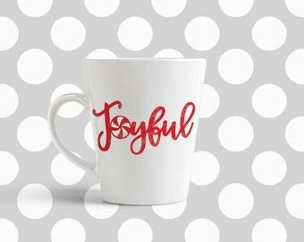 Christmas svg, Joyful svg, Candy svg, joy svg, SVG, DXF, EPS, Christmas quote svg, cut file, santa svg, merry and blessed