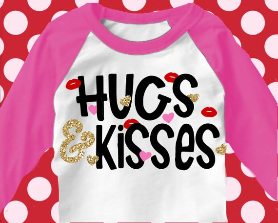 Schön Hugs And Kisses Svg, Valentines Day Svg, Svg Valentines, Valentineu0027s Day  Shirt, LOVE Svg, Valentineu0027s SVG, Svg, Dxf, EPS, Girls Svg Files